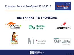 BIS Thanks our BeInSpired Sponsors!