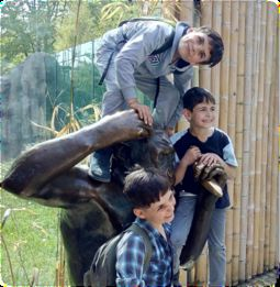 Trip to the zoo with children from the refugee camp in Lohof